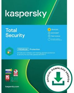 Kaspersky Total Security 2021   3 Devices   1 Year   PC/Mac/Android   Online Code