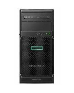 HPE ProLiant ML30 Gen10 server with one Intel® Xeon® E-2224 processor, one 8 GB memory, 4 large form factor non-hot-plug drive bays with 2x 1TB SATA 7.2K LFF raw HDD, and one 350W power supply SKU #P16927-S01
