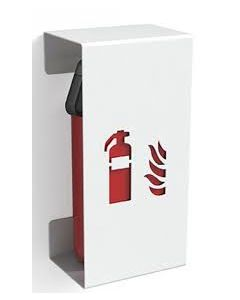 Fire-extinguisher holder FIRE SMALL white